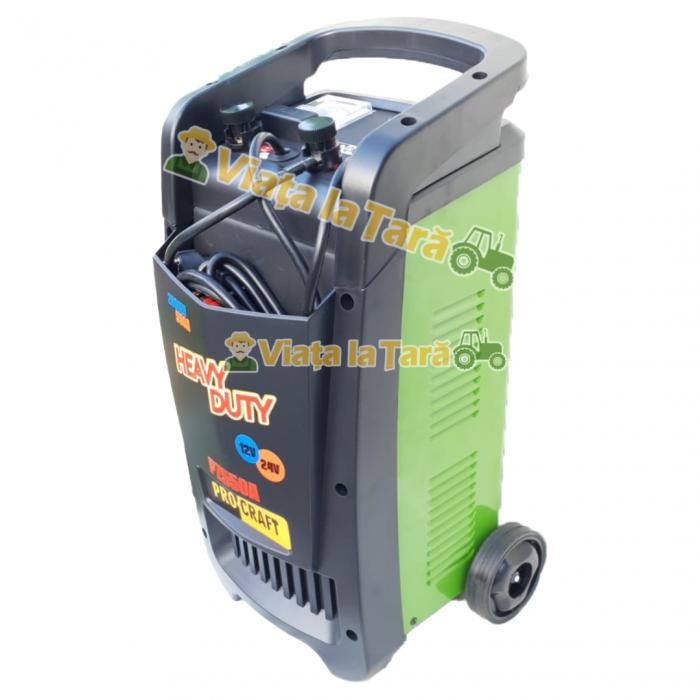 Robot incarcare auto, redresor baterie auto 12V-24V, 20-550Ah PZ550A ProCraft 1