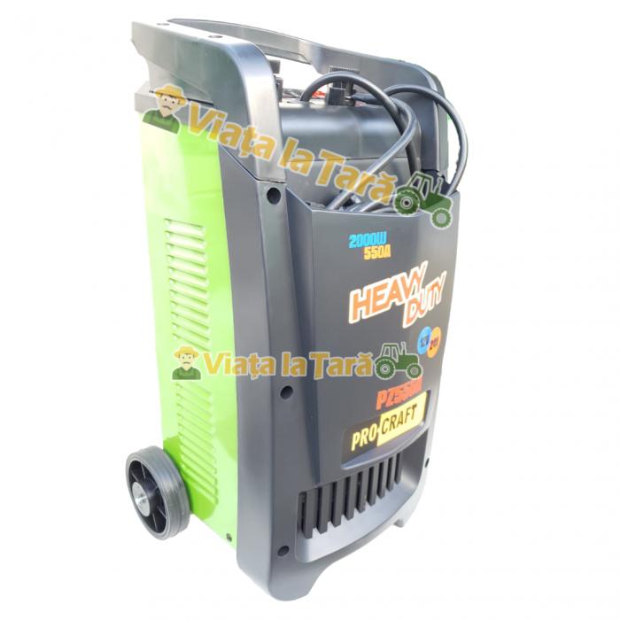 Robot incarcare auto, redresor baterie auto 12V-24V, 20-550Ah PZ550A ProCraft 3