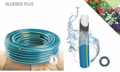"""Furtun gradina BLUEBOS PLUS 1/2"""" 20m, 3 straturi, cu set duze de conectare 0"""