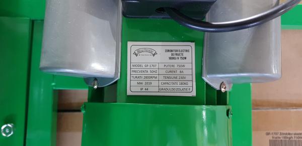 Zdrobitor Electric de Fructe si Legume, capacitate maruntire 200KG/H, putere motor 750W 2