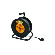 Prelungitor pe tambur 4 prize 3x1.5mm 15m Makalon