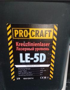 Nivela Laser ProCraft LE-5D, 15m + Trepied [2]