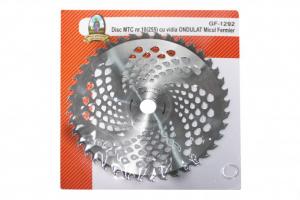 Disc pentru motocoasa nr.10 (255) cu vidia ONDULAT Micul Fermier1