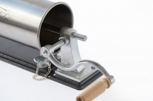 Masina de umplut carnati ( CARNATAR ) 3 kg ORIZONTAL Inox + 4 palnii MICUL FERMIER [3]
