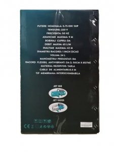 Hidrofor 0,75kW/1HP AUJET 100L, DEETOOLZ3