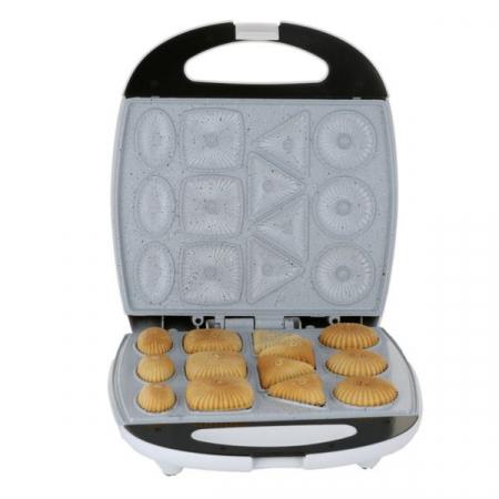Aparat pentru biscuiti Hausberg HB3563N, 1300 W, argintiu/negru0