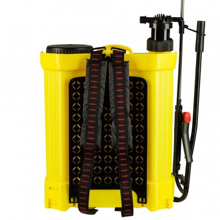 Pompa de stropit cu acumulator si actionare manuala 2 in 1 Tatta TP-1640AM, 16L, 12V1