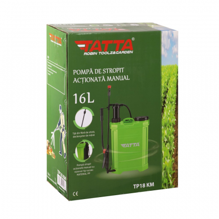Pompa de stropit actionata manual Tatta TP-18KM, 16L, 2.4 bari4