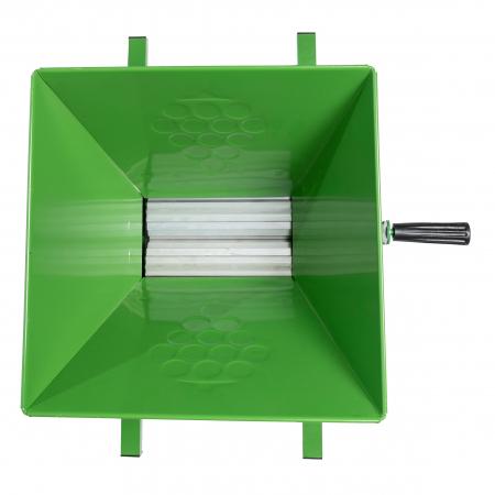 Zdrobitor Struguri Tamburi Aluminiu, 350Kg/Ora, Cuva 30L BULGARIA1