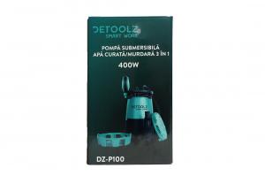 Pompa submersibila DETOOLZ, 400W, apa curata/murdara, 3in112