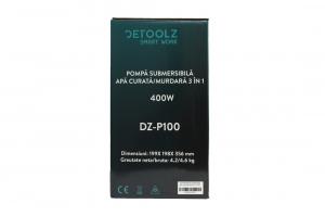 Pompa submersibila DETOOLZ, 400W, apa curata/murdara, 3in110