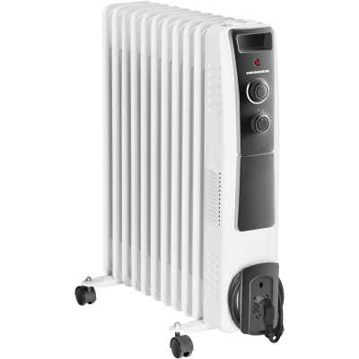 Calorifer electric cu ulei Heinner HOH-YV13BK, 2500 W, 13 elementi, ventilator 400W, protectie supraincalzire, termostat reglabil, alb0