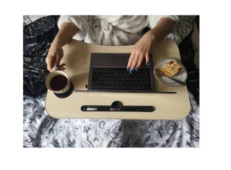 Masuta pliabila suport laptop/tableta maro deschis 60x40x282