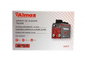 PACHET - Invertor de sudura Almaz AZ-ES001 250A Electrod 1.6-4mm, accesorii incluse + Masca de sudura automata cu cristale10