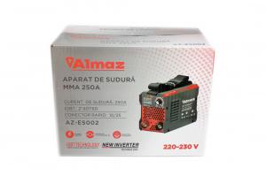 Aparat de Sudura, Invertor Almaz 250A AZ-ES002, Electrod 1.6-5mm, accesorii incluse + Manusi de protectie marime 163