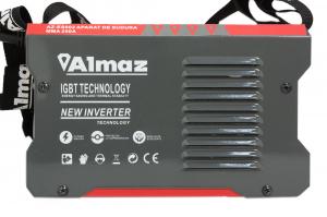 Aparat de Sudura, Invertor Almaz 250A AZ-ES002, Electrod 1.6-5mm, accesorii incluse + Manusi de protectie marime 1614