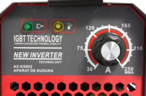 Aparat de Sudura, Invertor Almaz 250A AZ-ES002, Electrod 1.6-5mm, accesorii incluse + Manusi de protectie marime 167