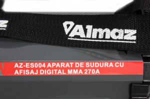 PACHET - Aparat de sudura cu afisaj digital MMA 270A Almaz, toate accesoriile sunt incluse + Masca de sudura automata cu cristale lichide10