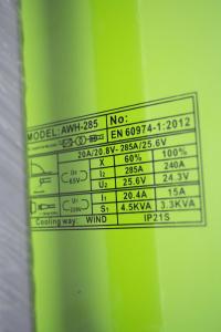Invertor/Aparat de sudura Procraft Germany 285A, Afisaj digital, Putere 285A, Electrod 1.6-5.0 MM7
