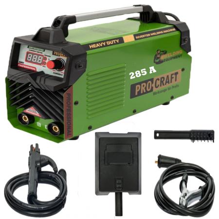 Invertor/Aparat de sudura Procraft Germany 285A, Afisaj digital, Putere 285A, Electrod 1.6-5.0 MM0