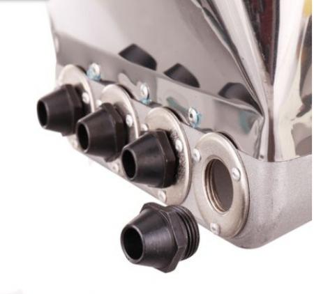 Masina de tencuit pneumatica din inox Model Premium cu duze7