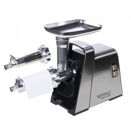 Masina electrica DETOOLZ inox de tocat carne 1400W MGG-1403