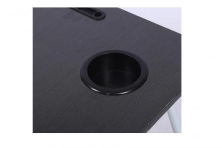 Masuta pliabila suport laptop/tableta neagra 60x40x282