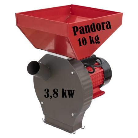 Moara cu ciocanele 2 in 1 pentru uruiala de cereale si stiuleti de porumb, Pandora, 3.8Kw, 200kg/h, cuva mare, Model 2021