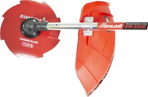 Motocoasa MOGILEV M5500, 7 CP, 56CC + 4 sisteme de taiere + Dispozitiv drujba de taiat crengi la inaltime6