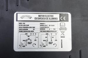 Motor electric 2800RPM 4KW cu carcasa de aluminiu Micul Fermier9
