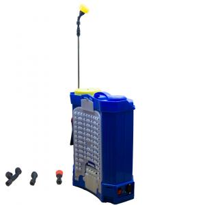 Pompă stropit cu acumulator 12 L TATA, cu rezervor tip rucsac din material PVC5