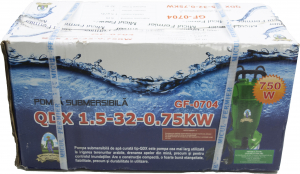 Pompa de apa submersibila Micul Fermier, QDX 32m, 750W [1]