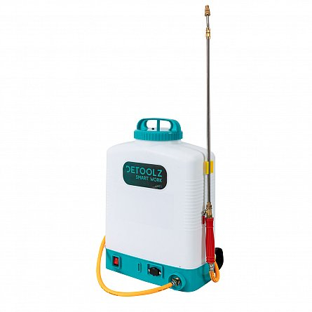 Pompa de stropit cu acumulator 16L furtun presiune DETOOLZ1