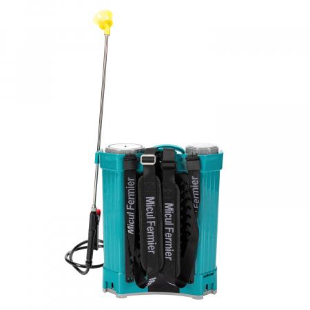 Pompa de stropit electrica Pandora 20 Litri, 5 Bari + regulator presiune, vermorel cu baterie-acumulator5