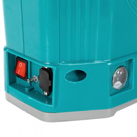 Pompa de stropit electrica Pandora 20 Litri, 5 Bari + regulator presiune, vermorel cu baterie-acumulator3