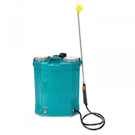 Pompa de stropit electrica Pandora 20 Litri, 5 Bari + regulator presiune, vermorel cu baterie-acumulator2