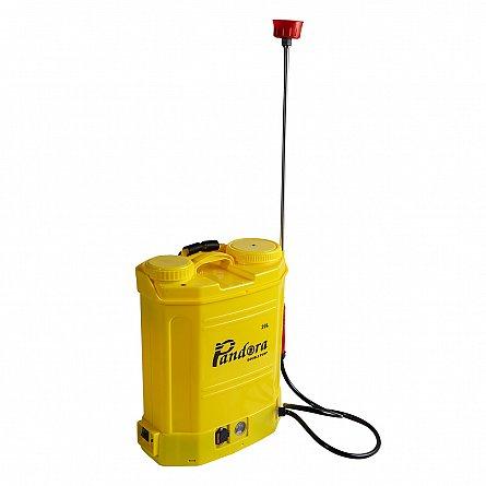 Pompa de stropit electrica Pandora 16 Litri, cu pompa dubla 15Ah, 7,5 Bari, 6 LPM5