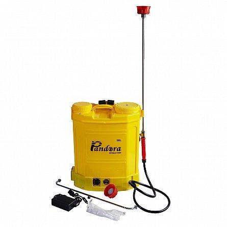 Pompa de stropit electrica Pandora 16 Litri, cu pompa dubla 15Ah, 7,5 Bari, 6 LPM4
