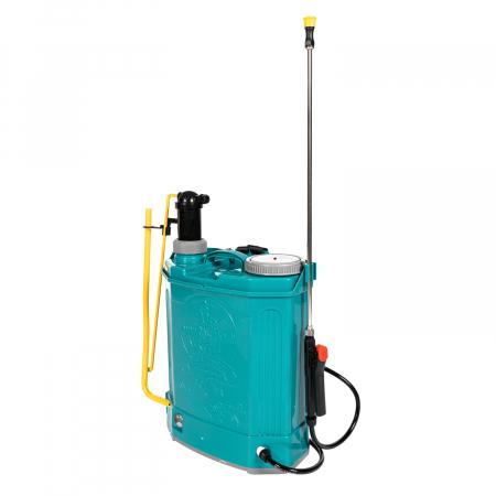 Pompa de stropit electrica si Manuala ( 2 in 1 ) 16 Litri 5 Bar, regulator presiune, Vermorel Pandora ( Herly ) cu baterie acumulator si manuala [8]