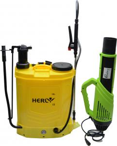 Pompa de stropit electrica si Manuala ( 2 in 1 ) 16 Litri, 5 Bari + Atomizor electric portabil de 12V 8Ah PANDORA0