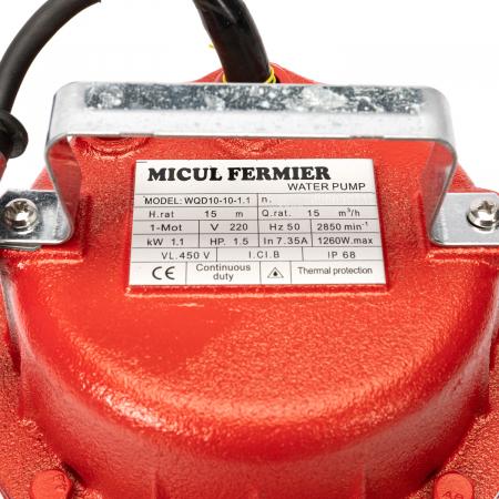 Pompa pentru Apa Murdara Micul Fermier, 1100W, 10000 l/h, Adancime de absorbtie 16 m [2]