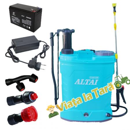 Pompa stropit electrica + manuala ( 2 in 1 ) 16 Litri - 5.5 bari - ALTAI1
