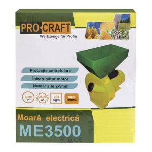 Moara de cereale 250 KG/H, 3.5KW, PROCRAFT ME35008