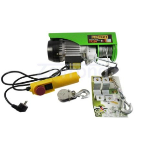 Macara electrica ProCraft TP250 (palan electric, troliu), capacitate maxima de ridicare 250kg, inaltime de ridicare 12m, putere nominal 540W, aparat de ridicat electric [4]