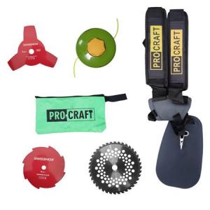 Motocoasa in 4 timpi ProCraft T5600, 7.5CP, 4 tipuri de taiere, 8 accesorii + Casca cu viziera de protectie din plasa si antifoane [5]
