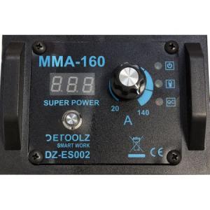 Aparat de sudura MMA-160 DETOOLZ, putere absorbita 8,1 kVA, eficenta 80%, diametru electrod 1,6-5mm4