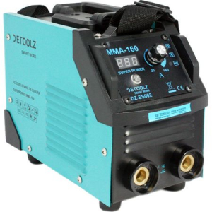 Aparat de sudura MMA-160 DETOOLZ, putere absorbita 8,1 kVA, eficenta 80%, diametru electrod 1,6-5mm8