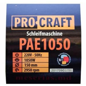 Polizor de banc 1050W, 2950RPM + 2 Discuri de granulatie diferita, PROCRAFT PAE10503