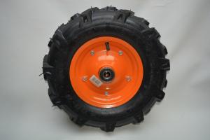 Roata pentru roaba - motocultor - ax 20mm - 2 rulmenti - crampoane - 4.00-8 4PR4