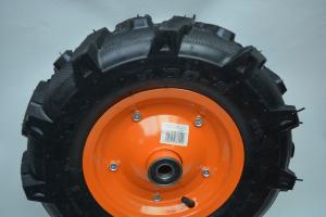 Roata pentru roaba - motocultor - ax 20mm - 2 rulmenti - crampoane - 4.00-8 4PR3